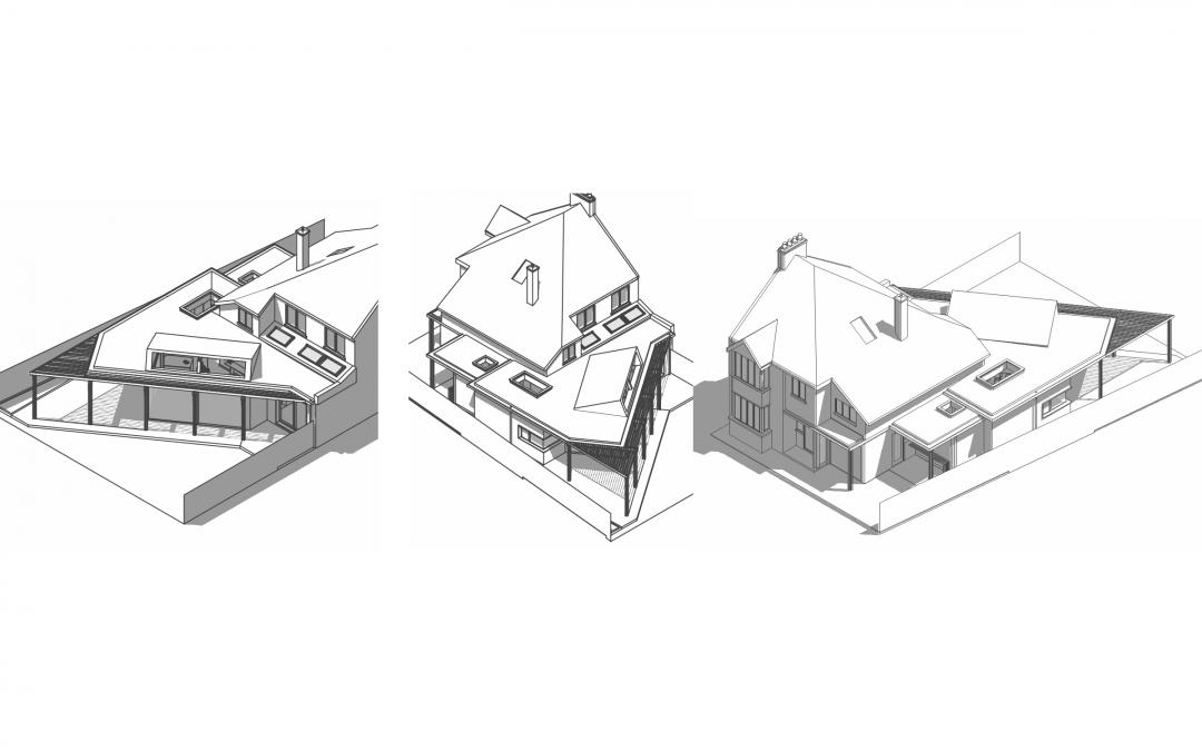 Planning; Calne Garden-side Timber Framed Extension