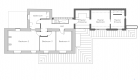 Image illustrating first floor plan of residential substantial extension scheme
