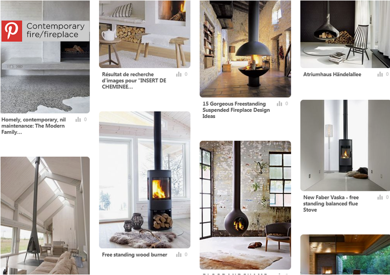 images illustrating Hetreed Ross Pinterest board for various contemporary fireplace ideas we like