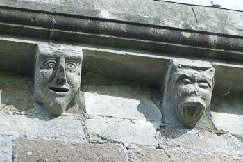 Image of church gargoyles