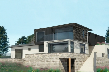 3D drawing of scheme to extend and reconfigure a bungalow in south Bristol.