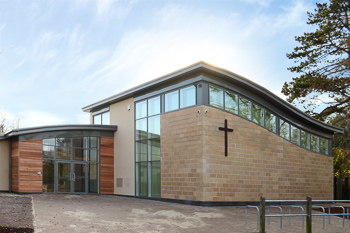 Image showing the outside of St Andrews Church - a new contemporary church, designed and built by Hetreed Ross in consultation with the local community.