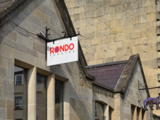 Shot of the exterior of the Rondo Theatre in Bath a community project designed by Jonathan Hetreed.