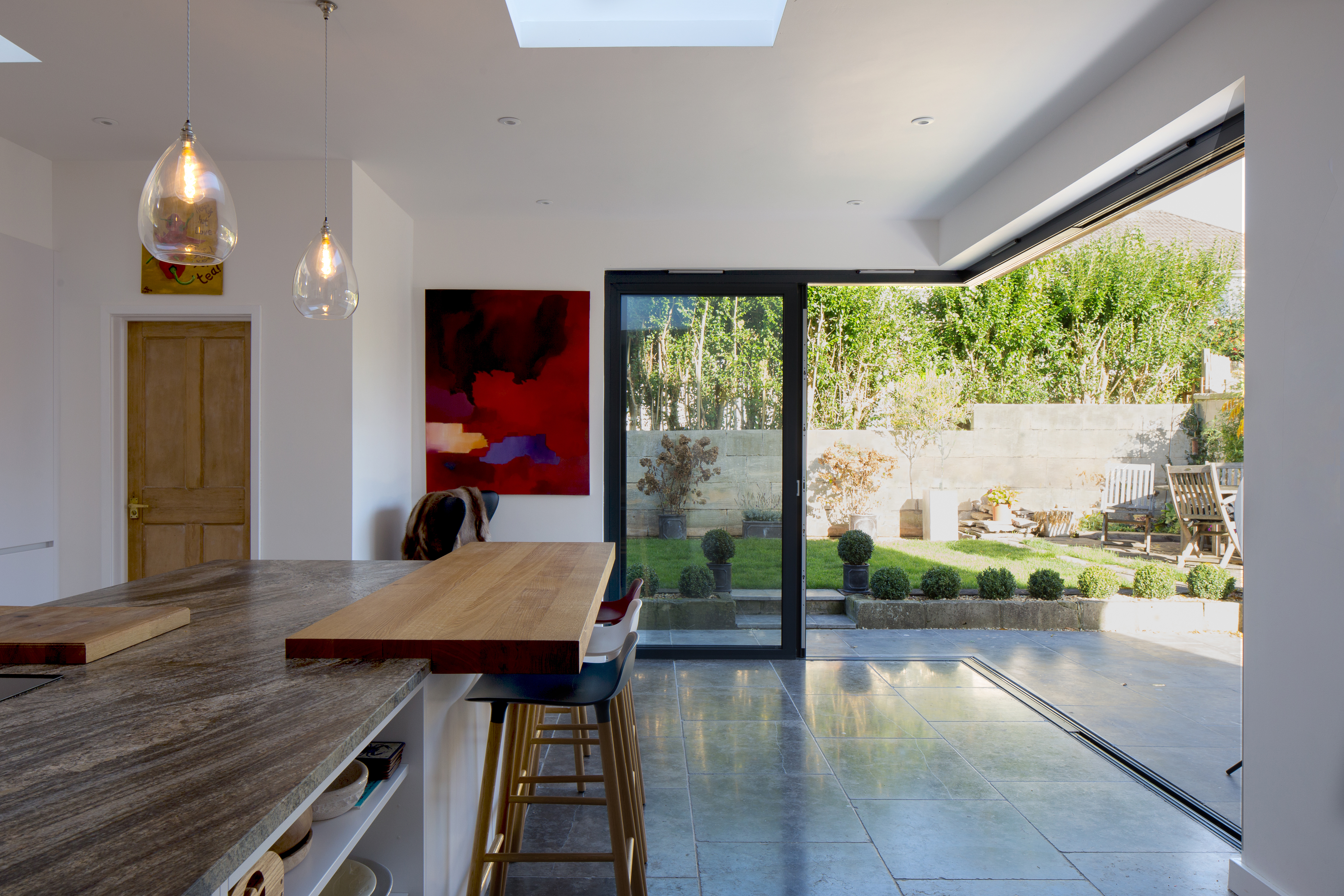 Image illustrating contemporary extension with inside to outside relationship