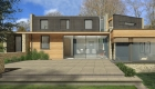 Image illustrating a 3D visualisation for a new sustainable house in the coombe dean conservation area of bath.