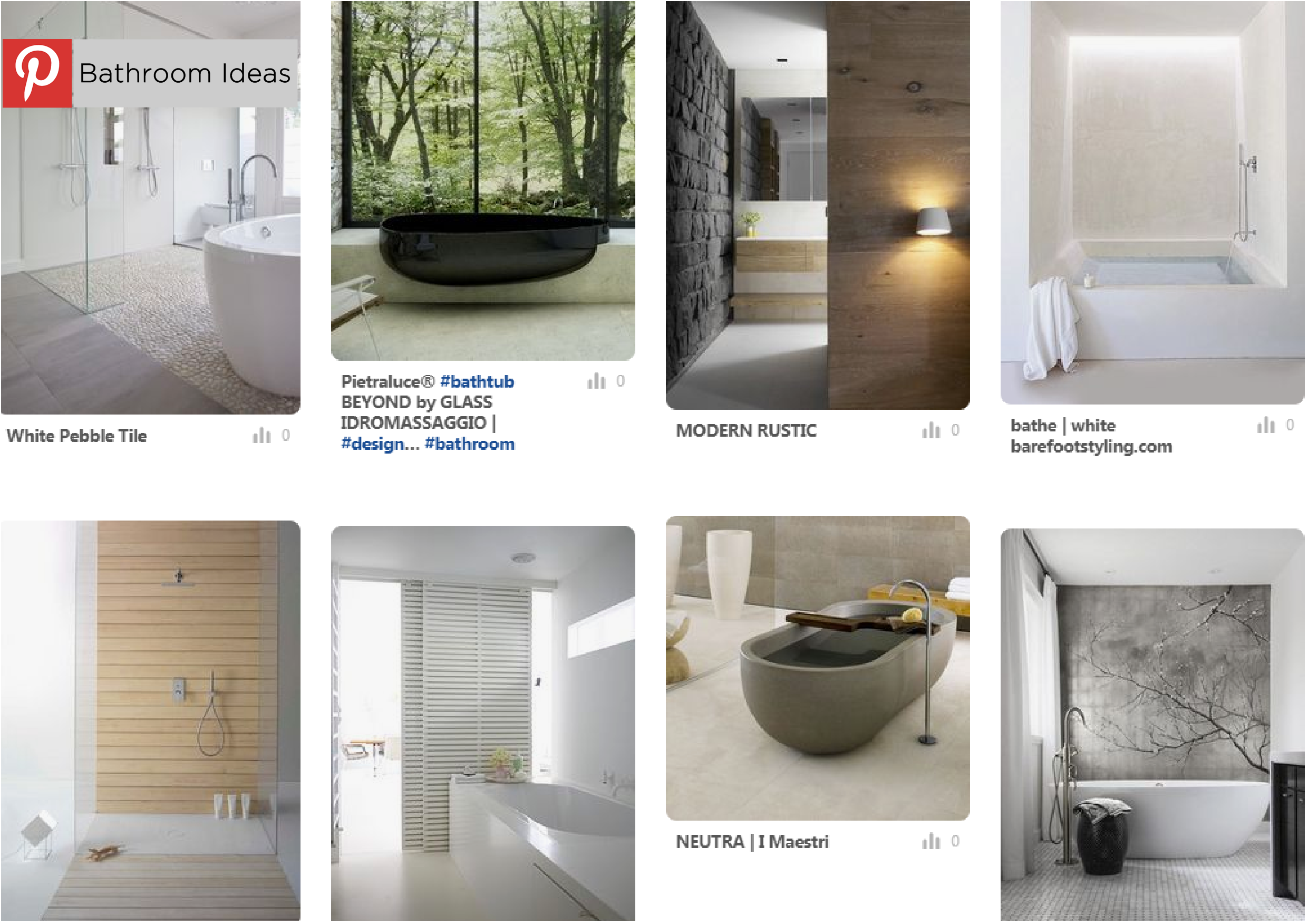 Image of a combination taken from Hetreed Ross Architects Pinterest page, illustrating bathroom designs that inspire us.