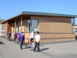 external view of classroom extension to st peters primary school chippenham