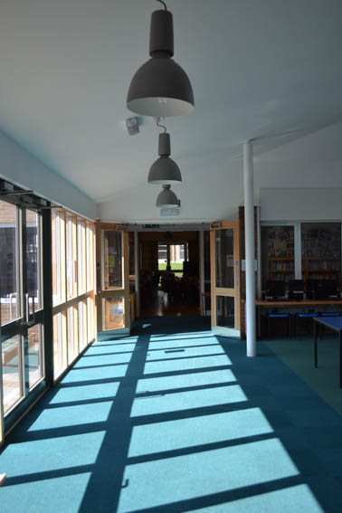 internal view of corridor extension to st peters primary school chippenham
