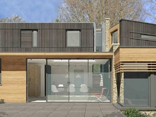 Image of contemporary new house, combe down, Bath