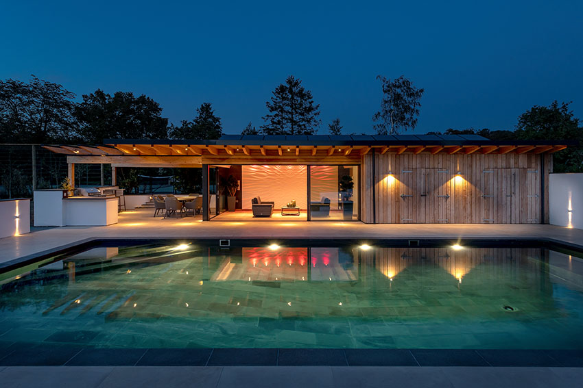 Completed: Contemporary poolside pavilion