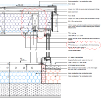 Image extract of a detailed design drawing for construction